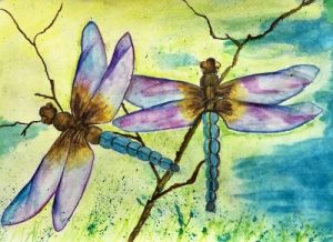 Dragonflies in WaterColour